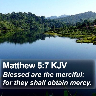 Matthew 5:7 KJV Bible Verse Image