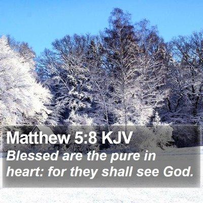 Matthew 5:8 KJV Bible Verse Image