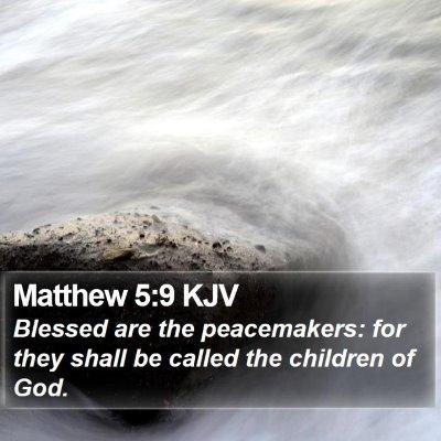 Matthew 5:9 KJV Bible Verse Image