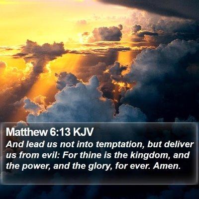 Matthew 6:13 KJV Bible Verse Image