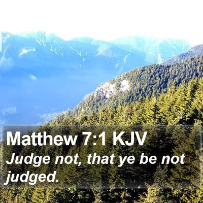 Matthew 7:1 KJV Bible Verse Image