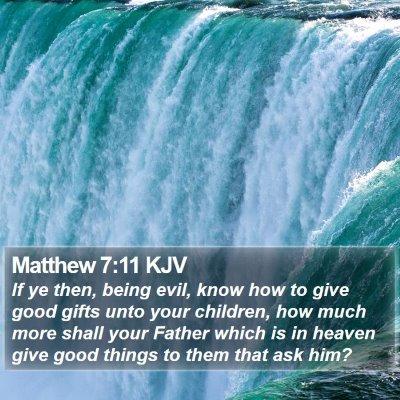 Matthew 7:11 KJV Bible Verse Image
