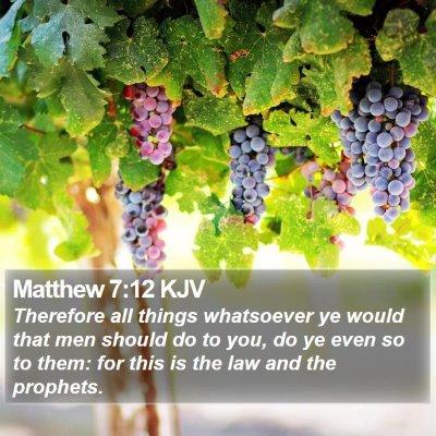 Matthew 7:12 KJV Bible Verse Image