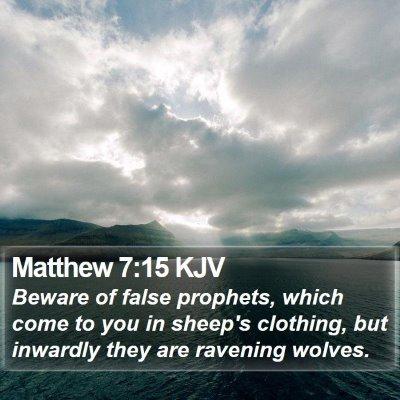 Matthew 7:15 KJV Bible Verse Image