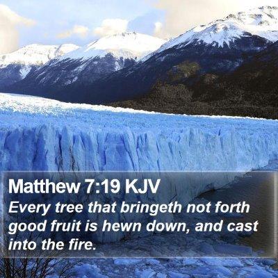Matthew 7:19 KJV Bible Verse Image