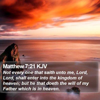 Matthew 7:21 KJV Bible Verse Image