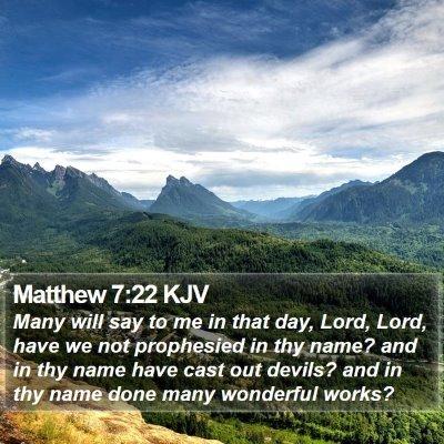 Matthew 7:22 KJV Bible Verse Image