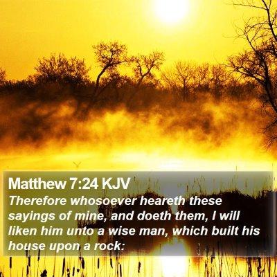 Matthew 7:24 KJV Bible Verse Image