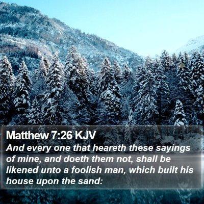 Matthew 7:26 KJV Bible Verse Image