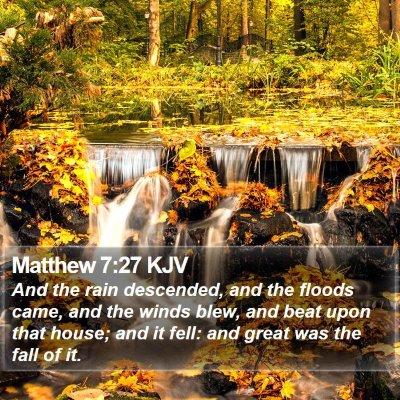 Matthew 7:27 KJV Bible Verse Image