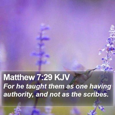 Matthew 7:29 KJV Bible Verse Image