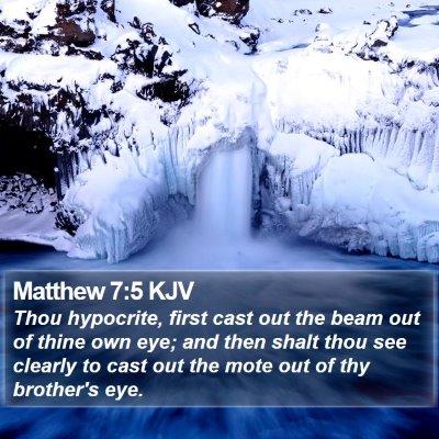 Matthew 7:5 KJV Bible Verse Image