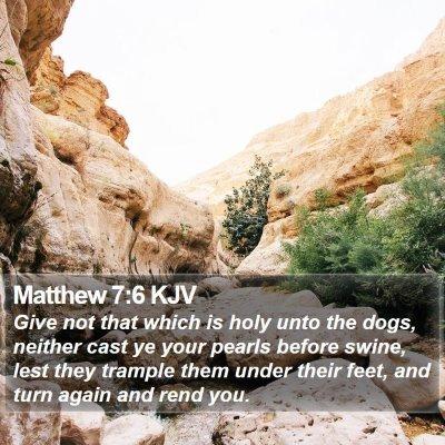 Matthew 7:6 KJV Bible Verse Image