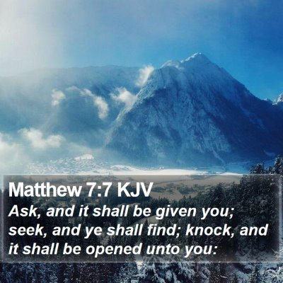 Matthew 7:7 KJV Bible Verse Image