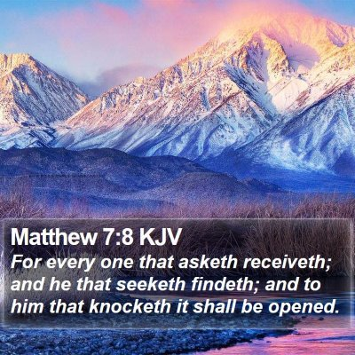 Matthew 7:8 KJV Bible Verse Image