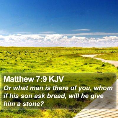 Matthew 7:9 KJV Bible Verse Image