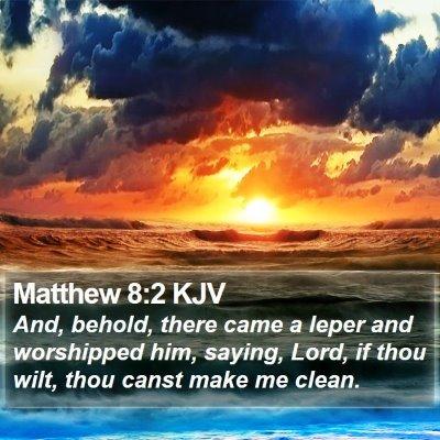 Matthew 8:2 KJV Bible Verse Image