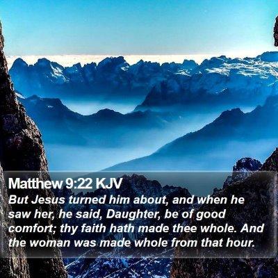 Matthew 9:22 KJV Bible Verse Image