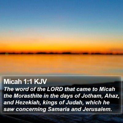 Micah 1:1 KJV Bible Verse Image