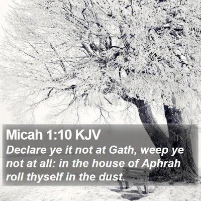 Micah 1:10 KJV Bible Verse Image