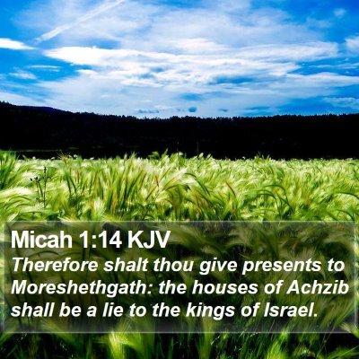 Micah 1:14 KJV Bible Verse Image