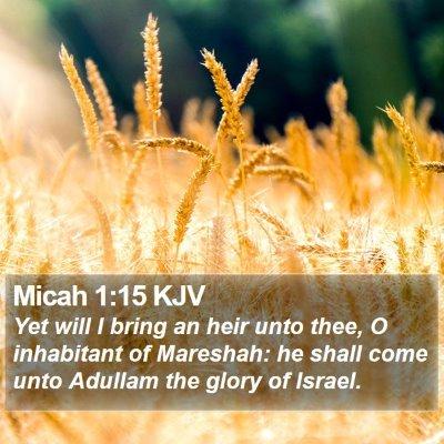 Micah 1:15 KJV Bible Verse Image