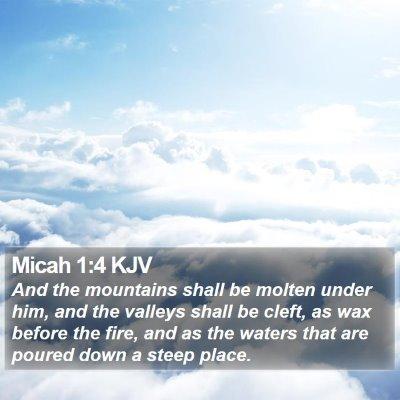 Micah 1:4 KJV Bible Verse Image