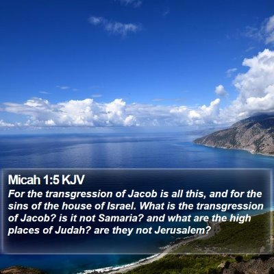 Micah 1:5 KJV Bible Verse Image