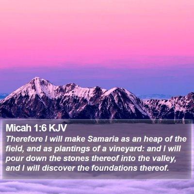 Micah 1:6 KJV Bible Verse Image