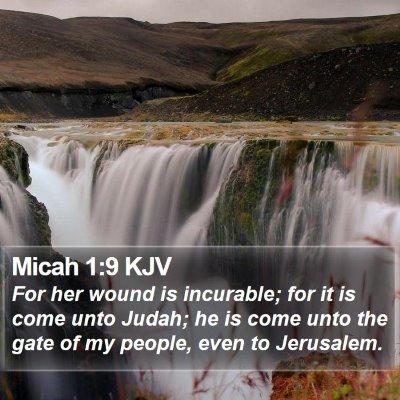 Micah 1:9 KJV Bible Verse Image