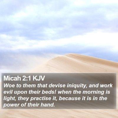 Micah 2:1 KJV Bible Verse Image