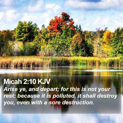 Micah 2:10 KJV Bible Verse Image