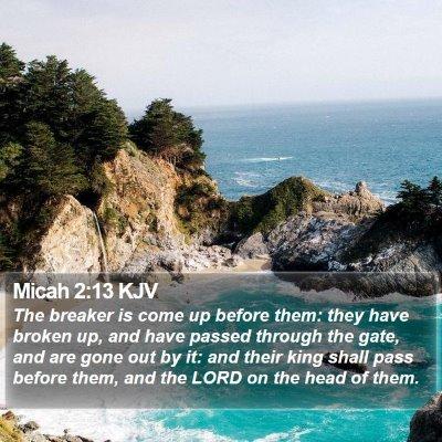 Micah 2:13 KJV Bible Verse Image