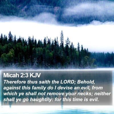 Micah 2:3 KJV Bible Verse Image
