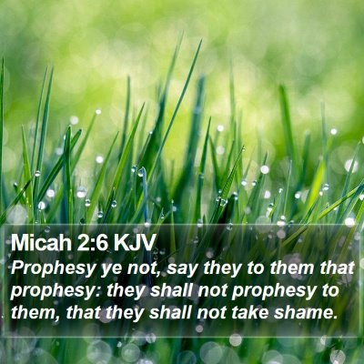 Micah 2:6 KJV Bible Verse Image