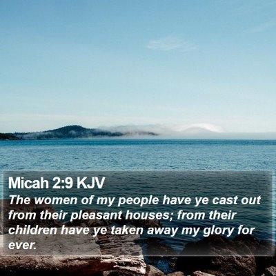 Micah 2:9 KJV Bible Verse Image