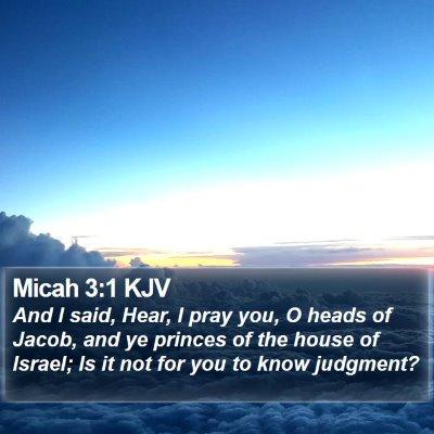Micah 3:1 KJV Bible Verse Image