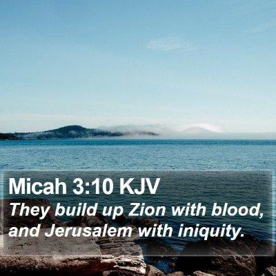 Micah 3:10 KJV Bible Verse Image