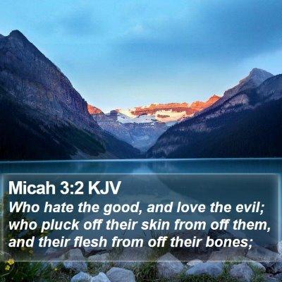 Micah 3:2 KJV Bible Verse Image