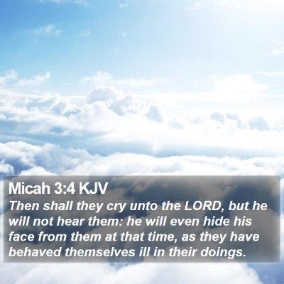 Micah 3:4 KJV Bible Verse Image