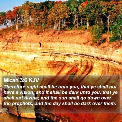 Micah 3:6 KJV Bible Verse Image