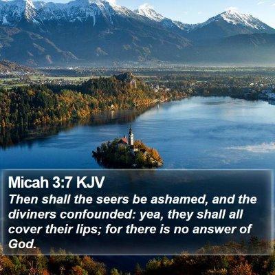 Micah 3:7 KJV Bible Verse Image