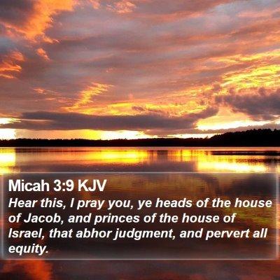 Micah 3:9 KJV Bible Verse Image