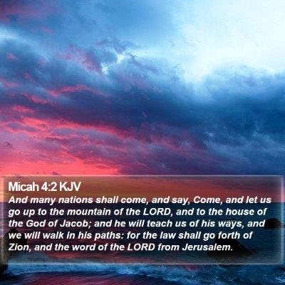 Micah 4:2 KJV Bible Verse Image