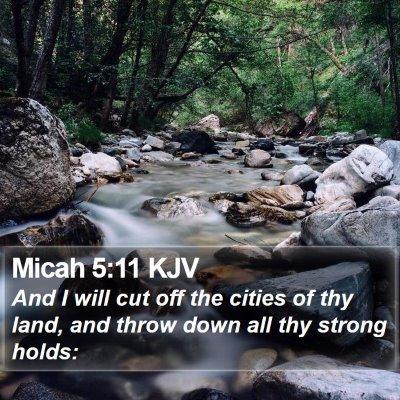 Micah 5:11 KJV Bible Verse Image