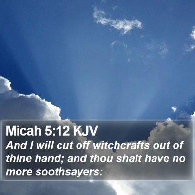 Micah 5:12 KJV Bible Verse Image