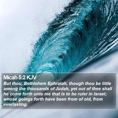 Micah 5:2 KJV Bible Verse Image