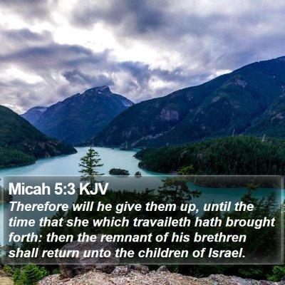 Micah 5:3 KJV Bible Verse Image