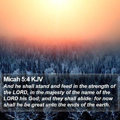 Micah 5:4 KJV Bible Verse Image