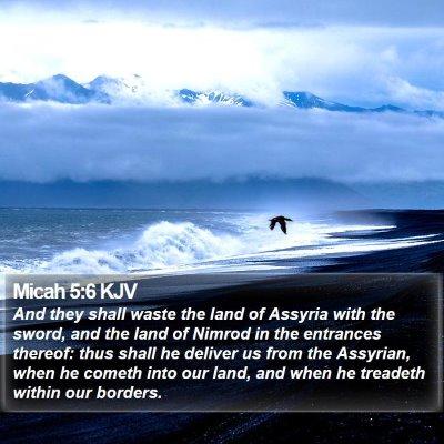 Micah 5:6 KJV Bible Verse Image